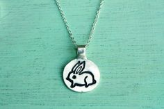 Perfect for Georgia! BUNNY RABBIT Necklace by boygirlparty  Little by boygirlparty, $44.00