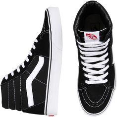 Vans Old Skool Sk8 Hi Blk/Wht (€70) ❤ liked on Polyvore featuring shoes, sneakers, vans, men, vans trainers, vans footwear, vans shoes, unisex sneakers and vans sneakers