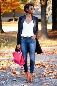 Shop this look on Kaleidoscope (blazer, jeans, flats) http://kalei.do/XEvCRWNcNuy6o29Z