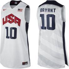 2012 USA Basketball Jersey #10 Kobe Bryant White Wholesale Cheap