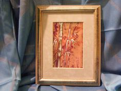 Lonely Bamboo - Japanese Style Enamel Picture