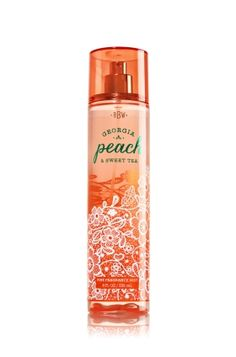 @rola_dola Georgia Peach & Sweet Tea - Fine Fragrance Mist - Signature Collection - Bath & Body Works - Lavishly splash or lightly spritz your favorite fragrance, either way you'll fall in love at first mist! Our carefully crafted bottle and sophisticated pump delivers great coverage while conditioning aloe mist nourishes skin for the lightest, most refreshing way to fragrance!