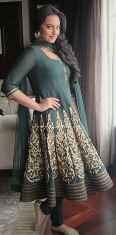 sonakshi sinha in an #anarkali bollywood fashion
