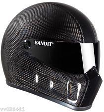 BANDIT Super Street 2 Carbon Fiber Race Stunt Alien Medium M Motorcycle Helmet