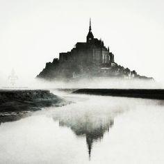 Mont Saint Michel, classée au patrimoine mondial de l'Unesco, Organization of World Heritage Cities, France