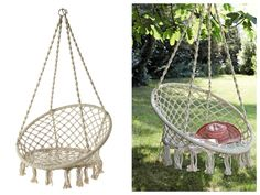 Hanging chair fauteuil suspendu chaise on pinterest - Hamac chaise suspendu ...