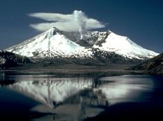 Mount St. Helens | Plumes of smoke rise from the Mount St. Helens crater two years after ...