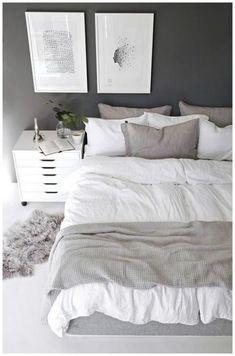 scandinavische slaapkamer ideeën, nordic stijl home design, scandinavisch slaap. Scandinavian Bedroom Decor, Simple Bedroom Decor, Decor Room, Home Decor Bedroom, Modern Bedroom, Bedroom Furniture, Scandinavian Style, Bedroom Ideas, Bedroom Designs