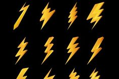 Lightning icons collection