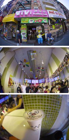 Vivi Bubble Tea 49 Bayard Street New York, NY 10013 #bubbletea #tea #japan #vivi #vivibubbletea #pink #bubble #Homer #Simpson