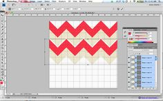 Make A Chevron Pattern in Photoshop {Digital Graphics} via TipJunkie.com