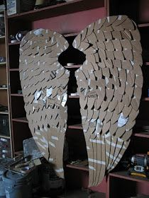 Idea - angel wings Idea for clay wings - or tack glass