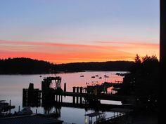 Sunrise from the Island Inn | Friday Harbor on San Juan Island | Photo by Sue Frause