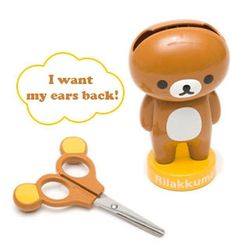 Rilakkuma Scissor Holders I just had to giggle at this a bit. What a cute and creative idea!