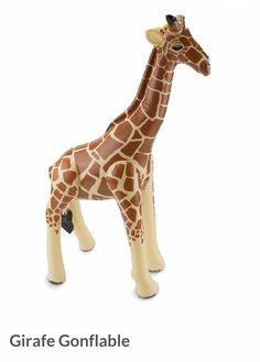 Girafe gonflable pour décoration d'anniversaire ou baptême sur le thème safari, jungle ou cirque. Decoration Cirque, Safari Jungle, Design Graphique, Animals, Safari Theme, Birthday Display, Animales, Animaux, Animal