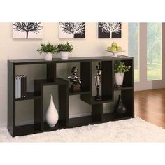 Highpoint Contoured Bookcase Black - Homes: Inside + Out Home Room Design, Home Interior Design, Living Room Designs, Living Room Decor, House Design, Entrance Decor, Entryway Decor, Modern Entryway, Entryway Ideas