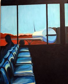 """""""Plane"""" a pastel by Caroline Verbica, Honorable Mention"""