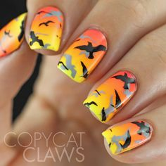 Copycat Claws: HPB Presents Birds Over Neon Sunset