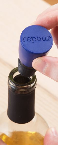 An oxygen-fighting, freshness-preserving solution to saving open wine. With this Made in the USA stopper, the last glass will taste as good as the first.