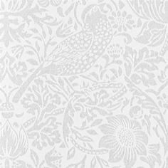 Pure Strawberry Thief Wallpaper Originally a fabric designed by William Morris in 1883, Pure Strawberry Thief wallpaper features a floral…