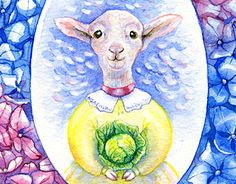 """Check out new work on my @Behance portfolio: """"Little cute lamb with cabbage"""" http://be.net/gallery/59190249/Little-cute-lamb-with-cabbage"""