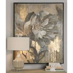 Hair-raising Wall Art Masterpieces that will arouse you! Wall Art - Elegant Flower Artwork With Metallic Gold Highlights Source: Tree Wall Painting, Painting Frames, Art Paintings, Painting Prints, Painting Canvas, Spray Painting, Painting Tips, Painting Doors, Bathroom Paintings
