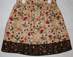 Birds and Leaves Skirt    Size 2 to 8