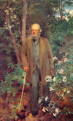 Portrait of Frederick Law Olmstead (1895) by John Singer Sargent. Olmstead is considered by many to be the father of American landscape architecture.
