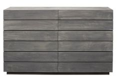 This gives me such a domestic boner. Laguna 6-Drawer Dresser, Gray Wash