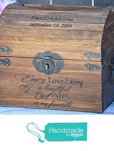 Every Love Story is Beautiful But Ours is my Favorite with Names and Date on Lid Slats - Wedding Card Box - Wedding Card Holder - Rustic Wedding Decor - Keepsake Box from Country Barn Babe https://www.amazon.com/dp/B01CKGYAC0/ref=hnd_sw_r_pi_dp_N0DfzbZKXJVYD #handmadeatamazon