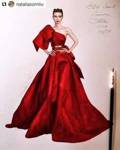 Fashion Design Sketchbook, Fashion Design Drawings, Fashion Sketches, Fashion Illustration Tutorial, Fashion Illustration Dresses, Fashion Illustrations, Fashion Show Themes, Fashion Art, Elie Saab Couture