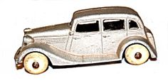 1935 Tootsietoy Ford Sedan In Silver