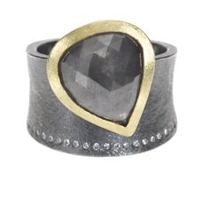 Todd Reed - trdr380_44 | 18ky gold, silver, gray fancy cut diamond (6.5ctw), white brilliants (.184ctw)