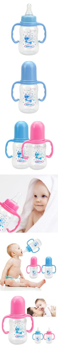 Infant Product Sippy Cup Feeder Milk Water Baby Feeding Bottle 125ml Baby Bottles With Handle Kids Cups