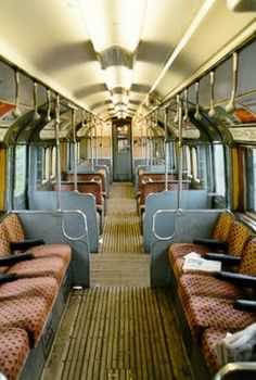 A vintage London tube train. Who remembers being in one of these?