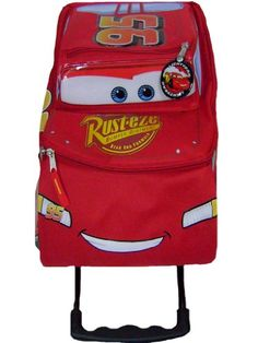 Disney Cars Kids Rolling School Travel Bag and Id Holder   - Click image twice for more info - See a larger selection of red  backpacks at http://kidsbackpackstore.com/product-category/red-backpacks/. - kids, juniors, back to school, kids fashion ideas, teens fashion ideas, school supplies, backpack, bag , teenagers girls , gift ideas, red