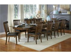 A-America Mariposa Rustic Whiskey Trestle Dining Table and Chair Set - A-America
