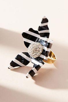 Lele Sadoughi Striped Crystal Lily Statement Ring enmz8UlXL