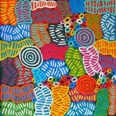 My Mother's Dreaming (BM-1003) by Betty Mbitjana http://merindahart.com.au/artists/betty-mbitjana