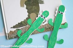 Popsicle Stick Crocodile - Kid Craft