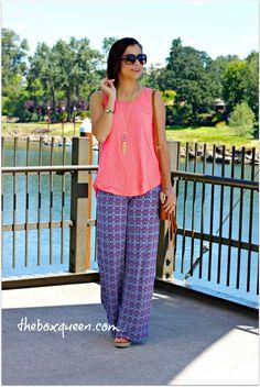 Gilli Chandler Printed Wide Leg Pant   Stitch Fix Review   Boho Chic Style   Stitch Fix Outfits   Stitch Fix Style