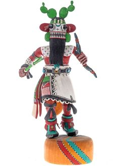 Hopi Kachina Doll Cactus by Hopi Leonard Taho II