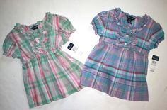 NWT Ralph Lauren Girls Edina Ruffled Plaid Madras Shirt Blouse Top  #RalphLauren #DressyEveryday