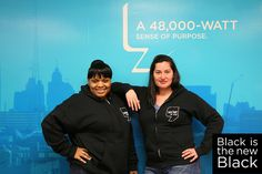 #WDET #Detroit's Martina Guzman and Tamika Collier rock their #WDET gear.