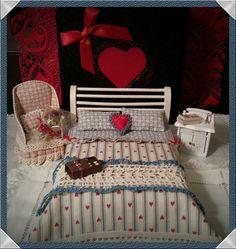 Bed double  bedding  Valentine day  scala :12 by LaboratoriodiManu