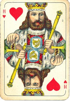 Forms of cartomancy appeared soon after playing cards were first introduced to Europe in the century. Using standard playing cards was the most popular form of providing fortune-telling card readings in the and centuries. Ace Of Hearts, King Of Hearts, Vintage Playing Cards, Vintage Cards, Printable Playing Cards, Fortune Telling Cards, Playing Card Games, Alphabet Cards, Vintage Ephemera
