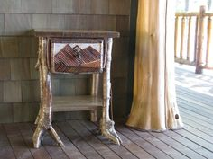 Custom Made Rustic Root End Table by Custom Rustic Furniture by Don McAulay Sr/Jr.