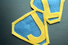 Cute DIY felt super-hero badges for personalized super hero capes