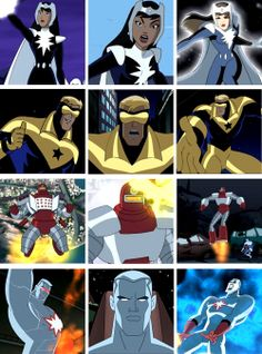 Doctor Light, Booster Gold, Rocket Red and Captain Atom - Justice League Unlimited Doctor Light, Justice League Animated, Bruce Timm, Dc Movies, Batman Comics, Comics Universe, Marvel Vs, Cartoon Shows, Comic Character