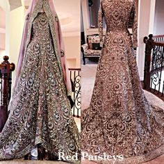 Pakistani bridal train dress